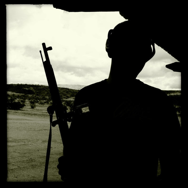 Shooting with the Border Patrol at the Ajo range.