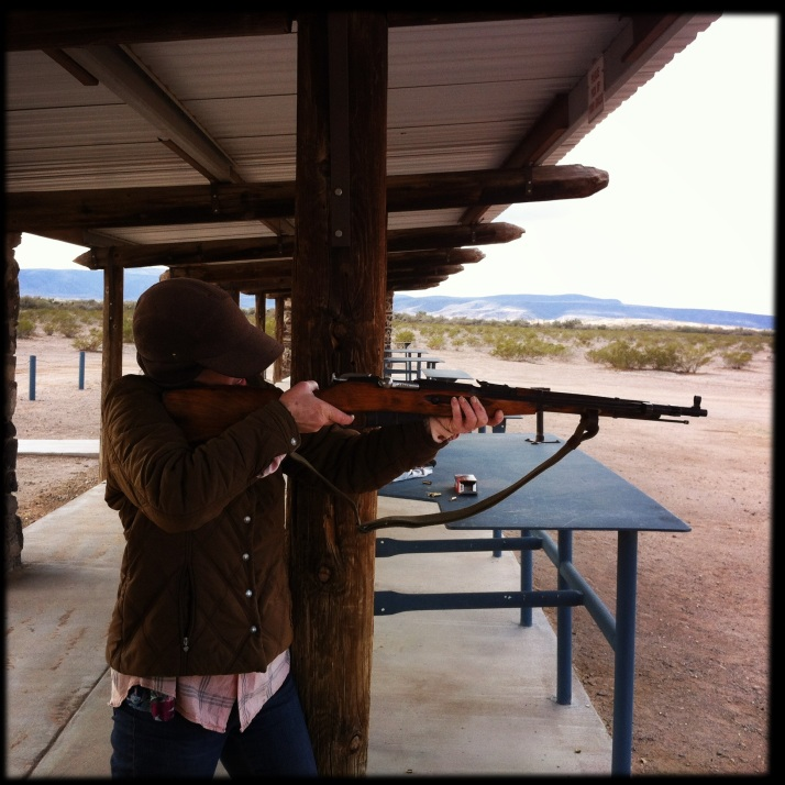 Me shooting a rifle at the range. With the raging gun control debate I felt the need to get a first-hand look at what all the fuss is about.