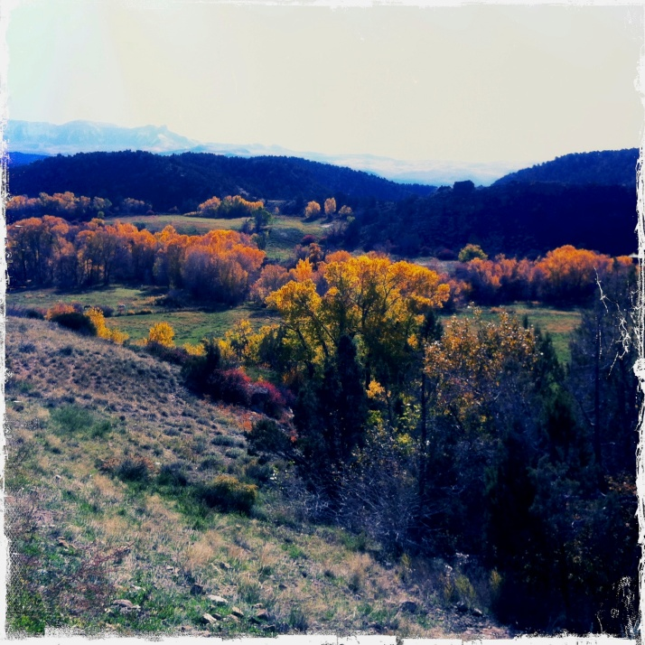 Towards the Crawford Reservoir dam, and beyond, Mendicant Ridge.