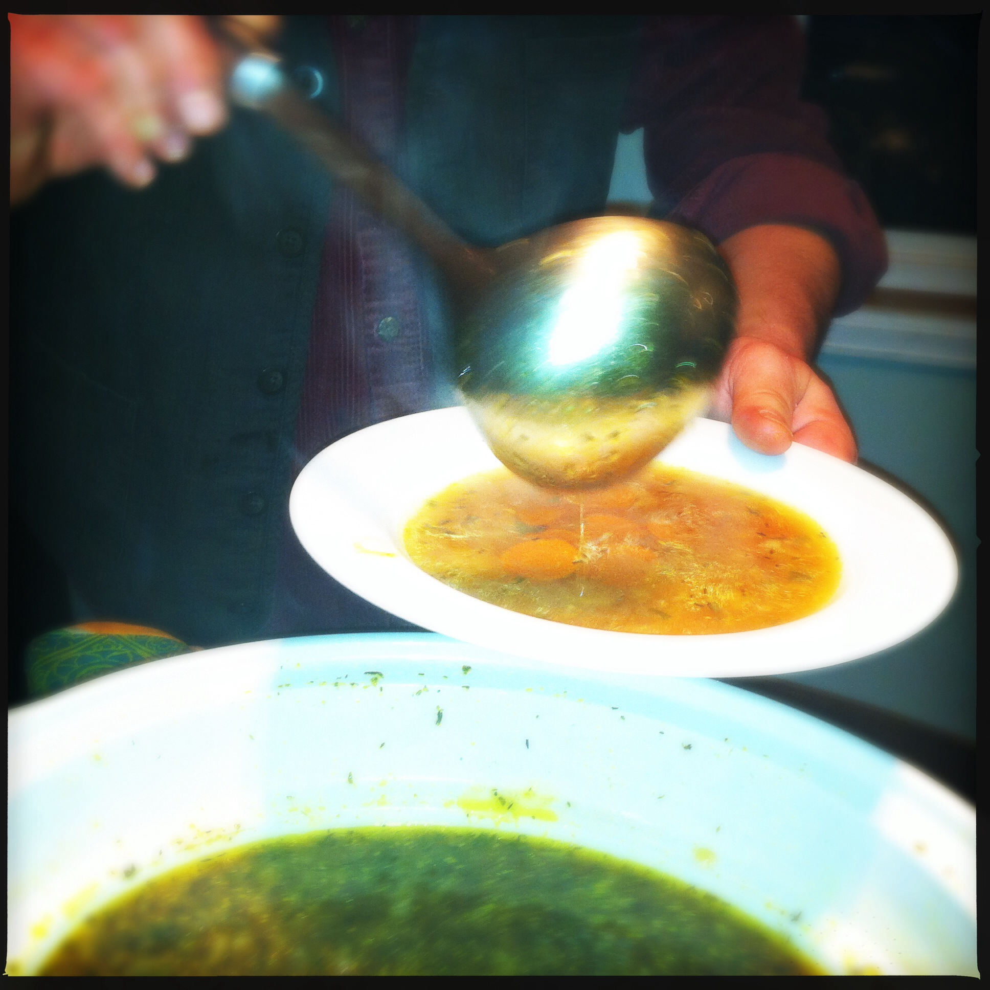 JT serves soup