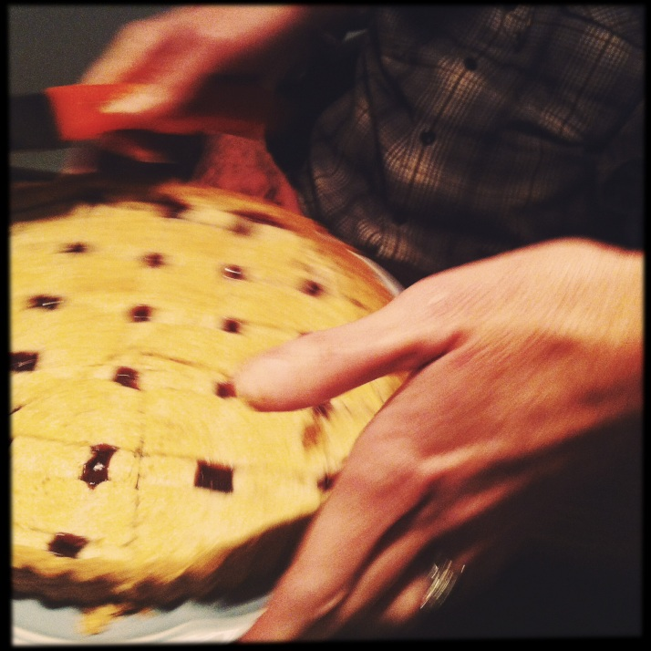 Joli serves linzer torte