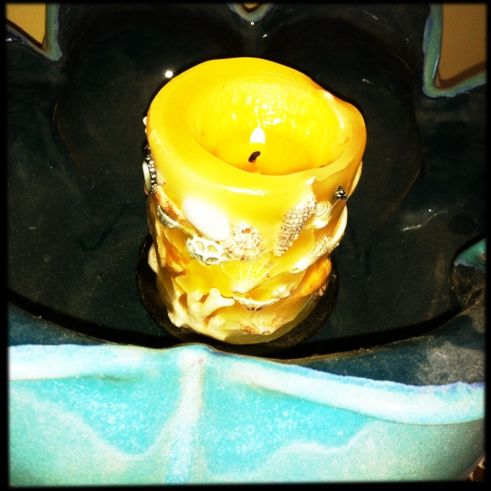 A candle for Karla.