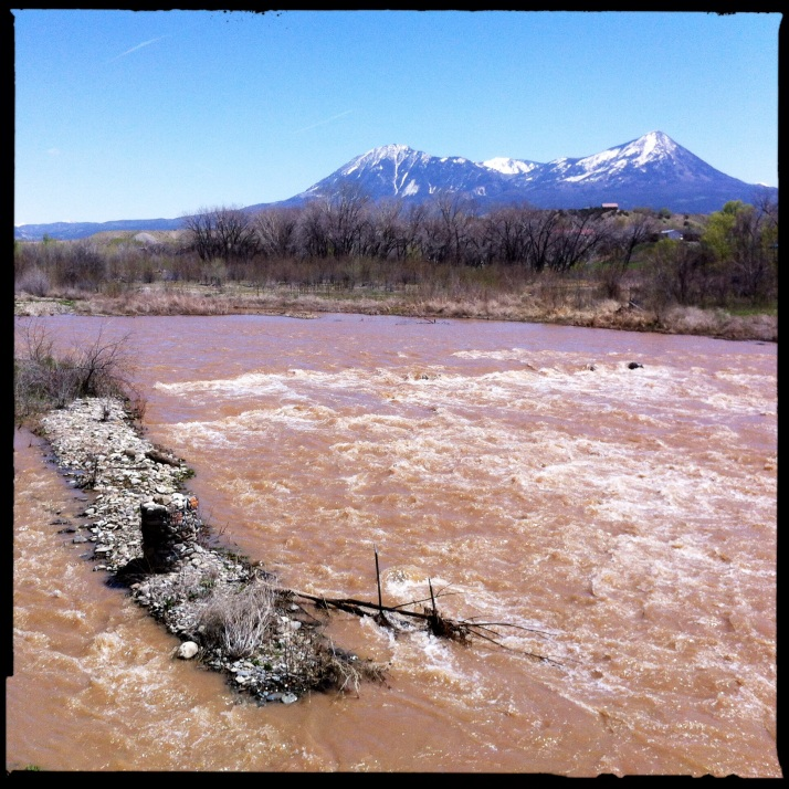 Snowmelt roaring down the North Fork River with