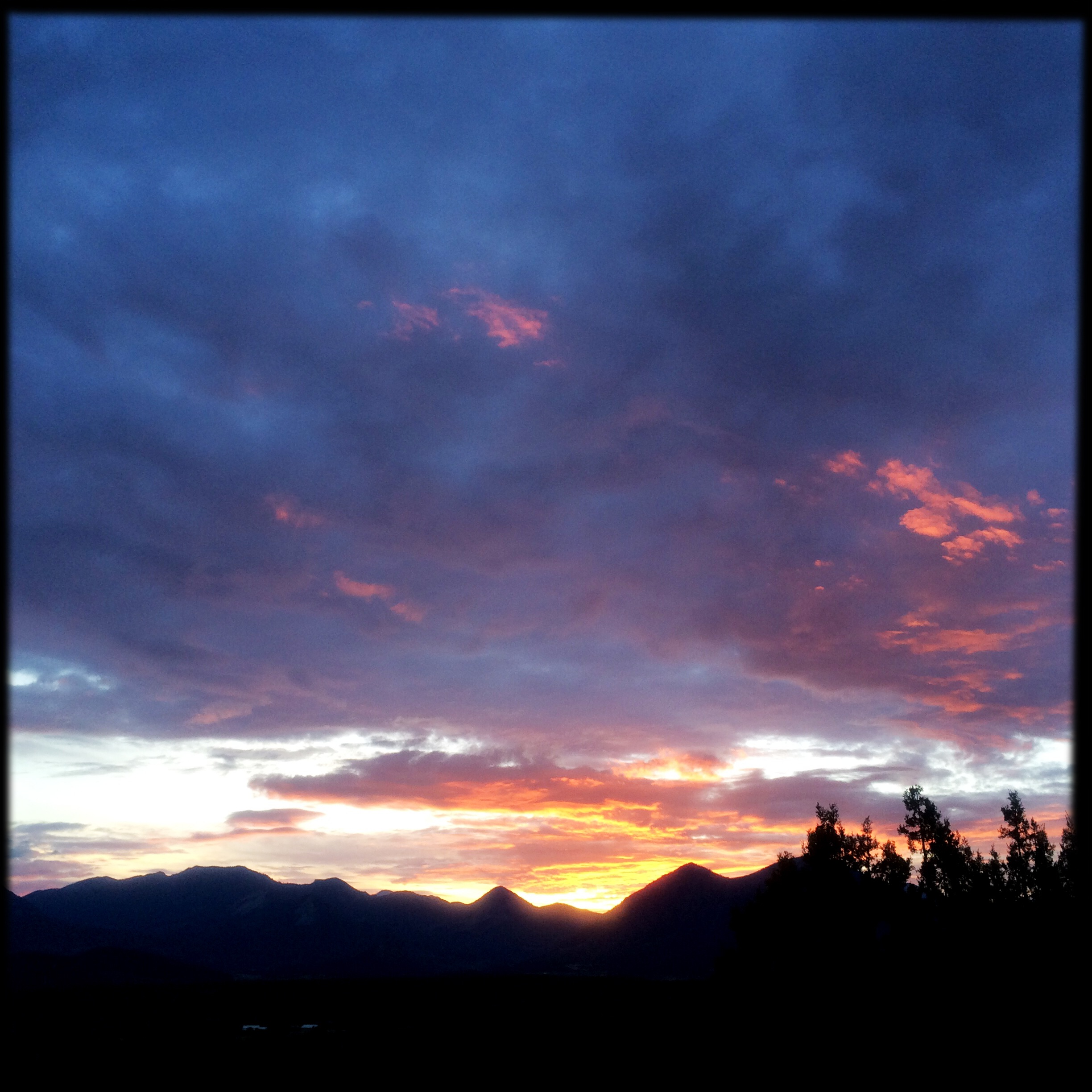 ... right about the time I crawled out of bed and shot this sunrise beyond her house.