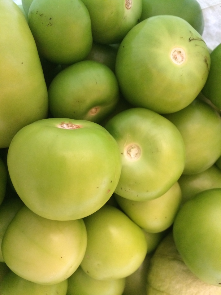 A peck of tomatillos from Dawn's garden gave me more than three quarts of salsa for the freezer and pantry.