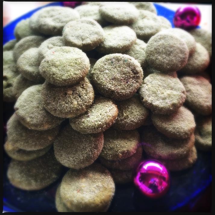 Green tea - white chocolate sugar cookies