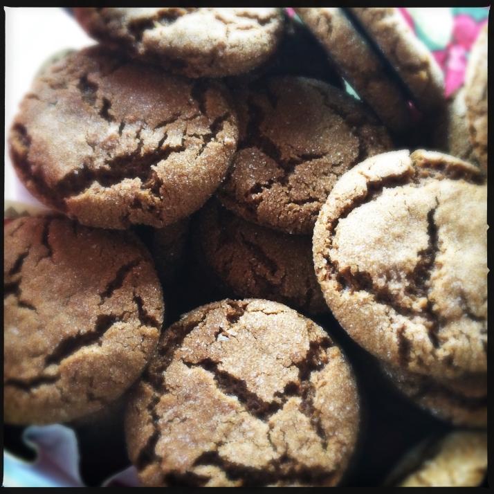Perfect Molasses cookies.