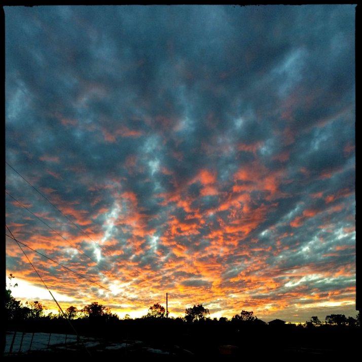 Sunset on Saturday night.