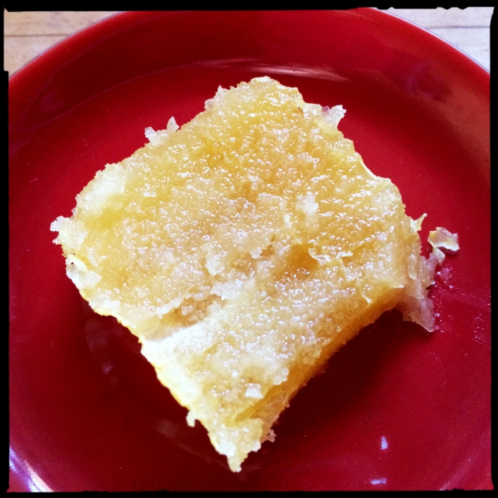Honey candy, dense crystallized honey and comb.