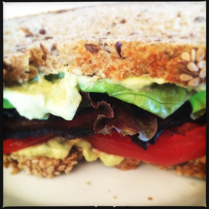 Many delicious BLTs were had at Mirador this summer with homegrown tomatoes and homegrown bacon, on homemade bread from Small Potatoes Farm.